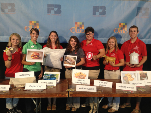 Seven ACEL students taught Ohio State Fair attendees about where they can find agriculture.